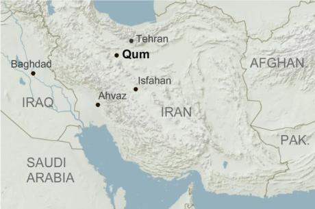 iran qom map