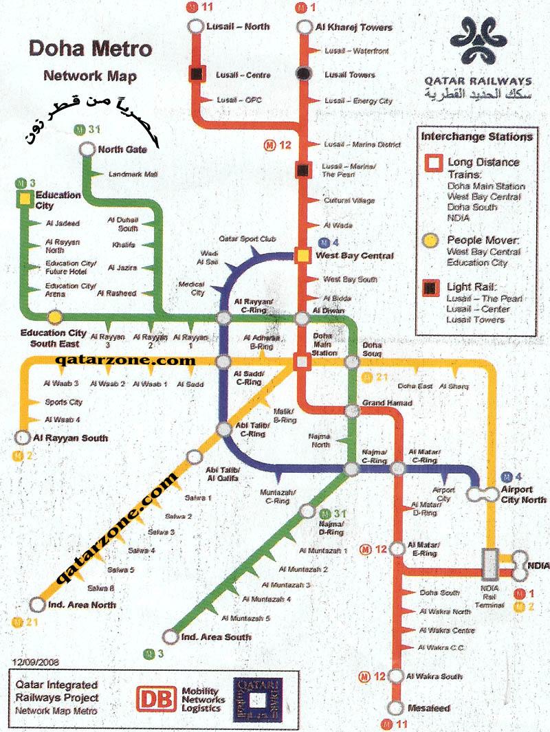 Doha subway map   The Gulf blog