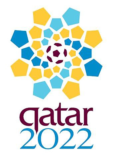 The official logo for Qatar 2022 FIFA event. Winning a total of 14 votes,