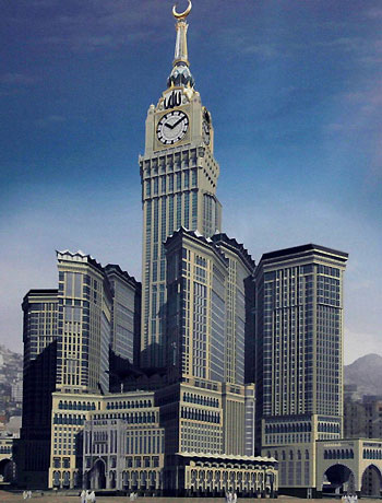 World's largest clock ticks in Mecca « The Gulf blog