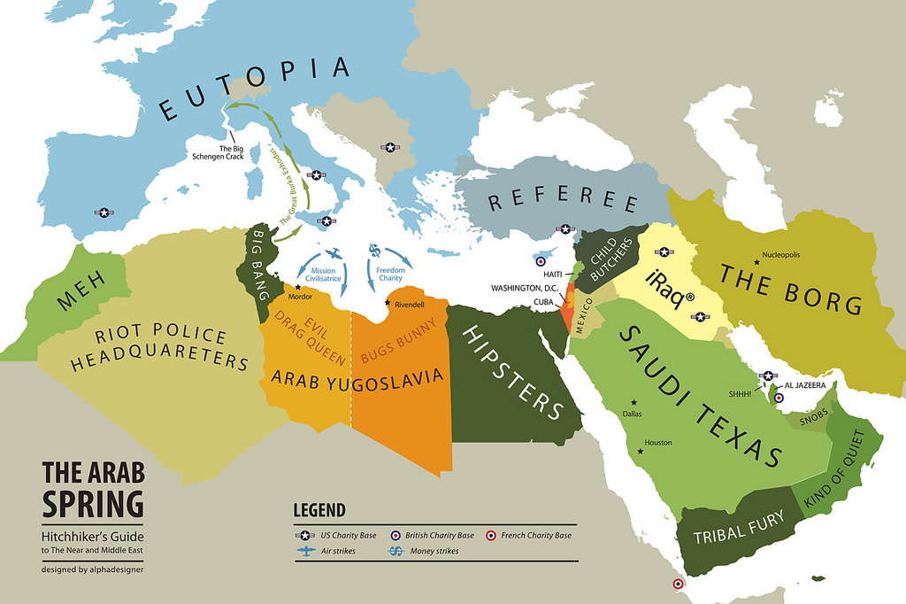 the arab spring map 29 august 2011