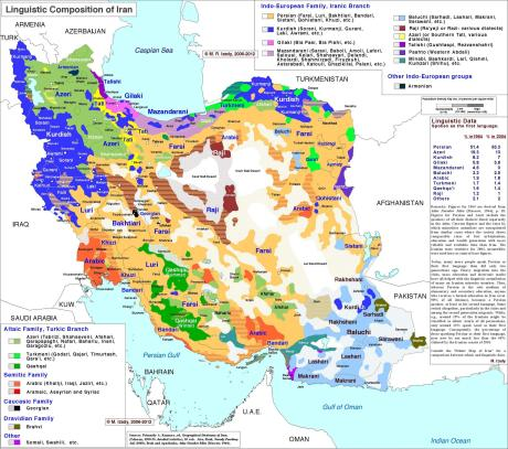Map Iran Languages